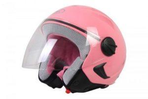 Cascos de moto rosa