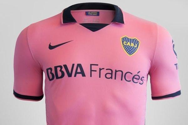 camiseta futbol rosa